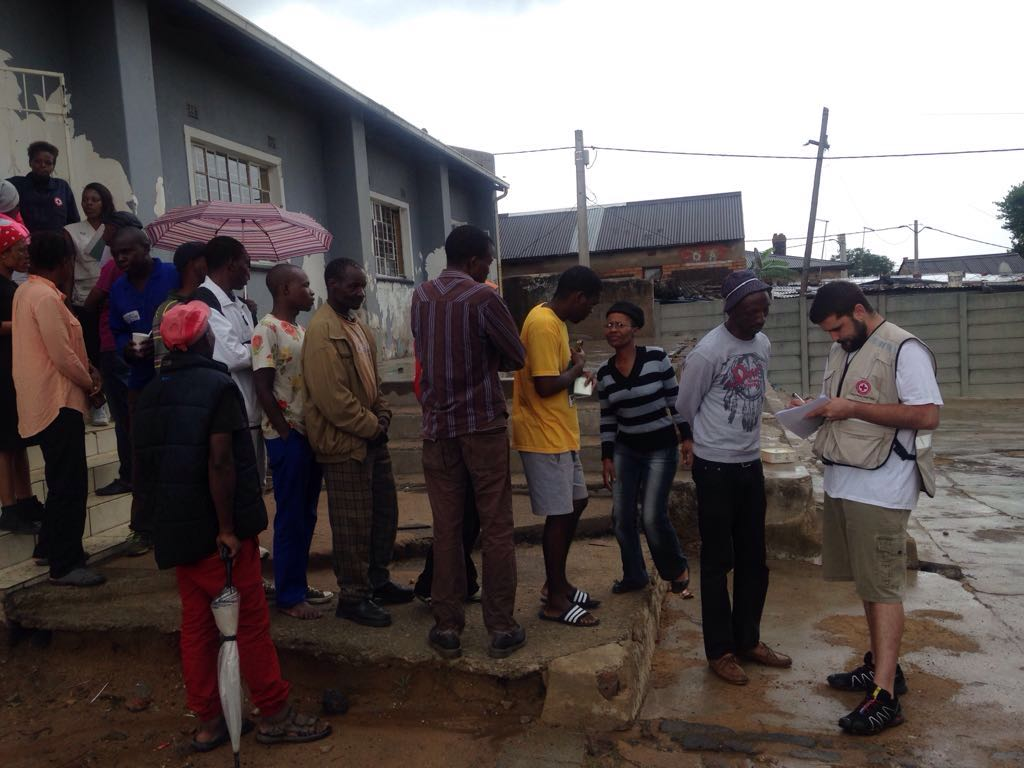 South African Red Cross aids flash flood victims in Johannesburg
