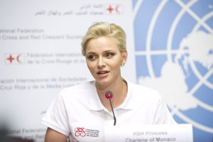 Princess Charlene of Monaco, IFRC Goodwill Ambassador call for Children around the world to be trained in first aid, World First Aid Day, Palais des Nations, Geneva. 9 September 2016. UN Photo / Violaine Martin