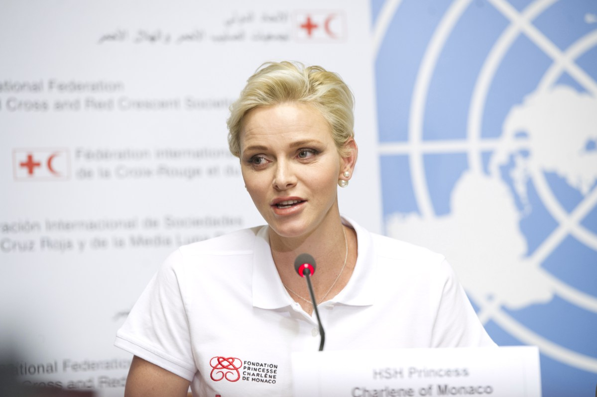 Princess Charlene in SA with the Red Cross and her Foundation