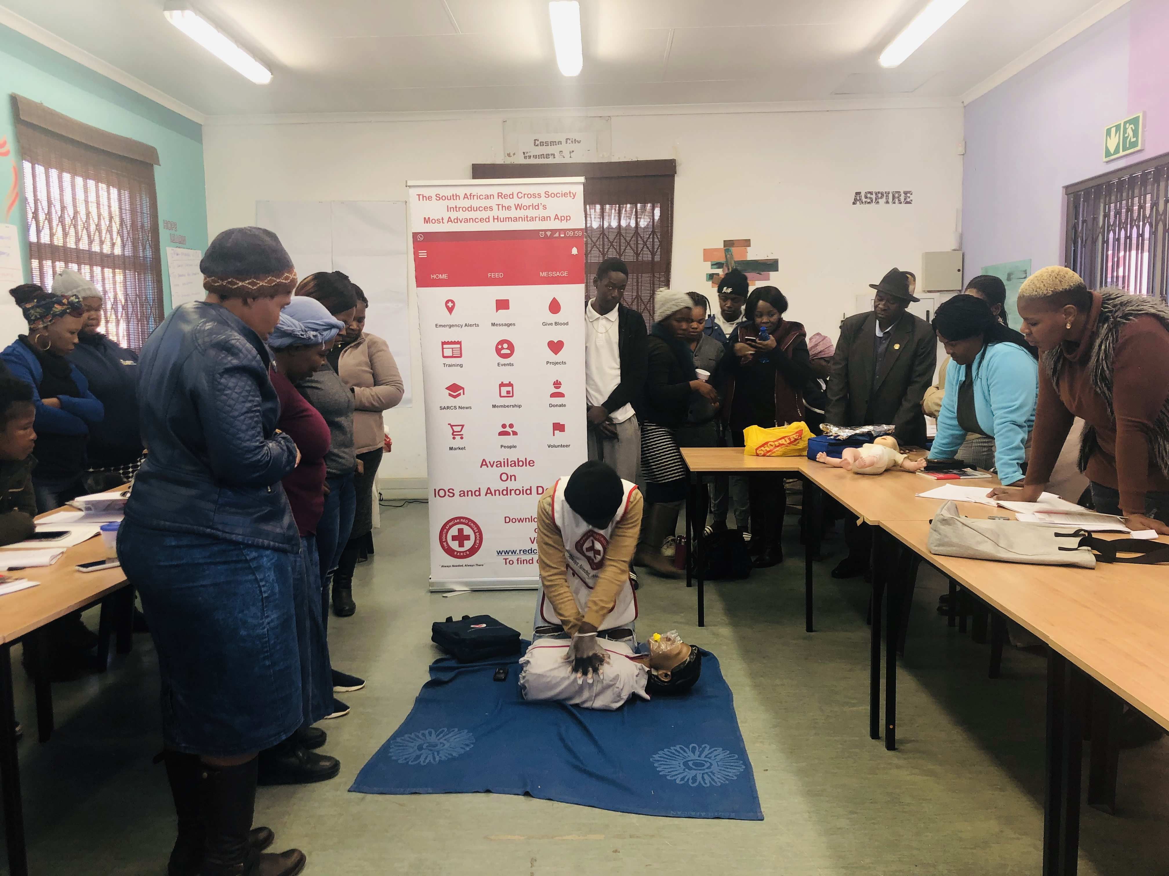Community First Aid Training in Cosmo City